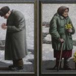 весна старик дед бабка старуха мимозы