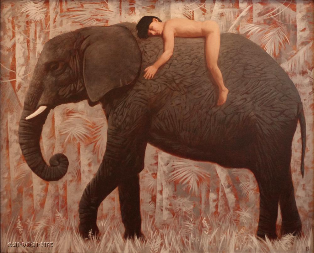 маугли и слон хатхи