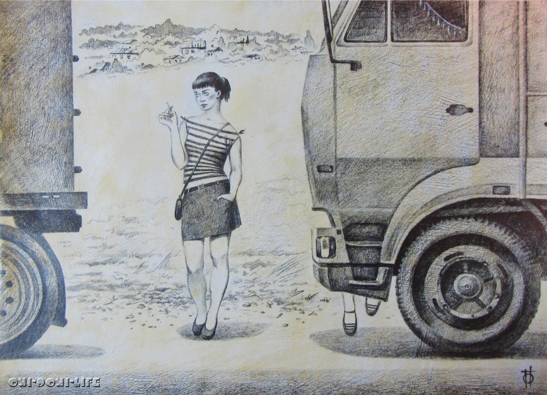 девушки на трассе