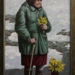 старуха бабка цветы мимоза