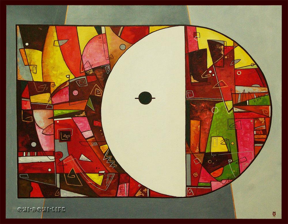 абстракция, двое, декор