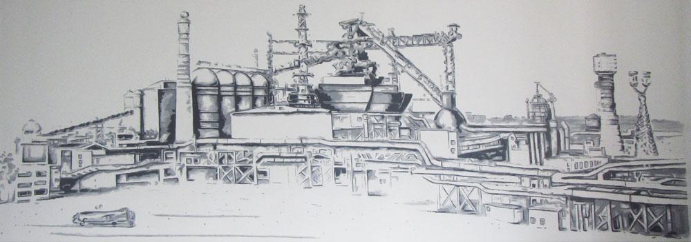 завод,роспись акрилом
