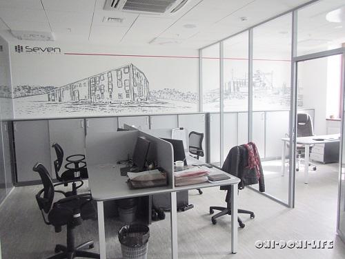 роспись акрилом в офисе