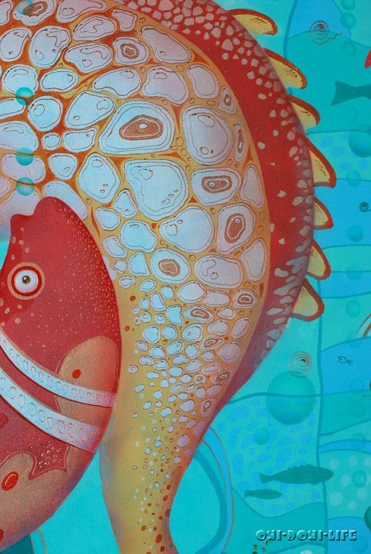 рисунок акрилом на стене