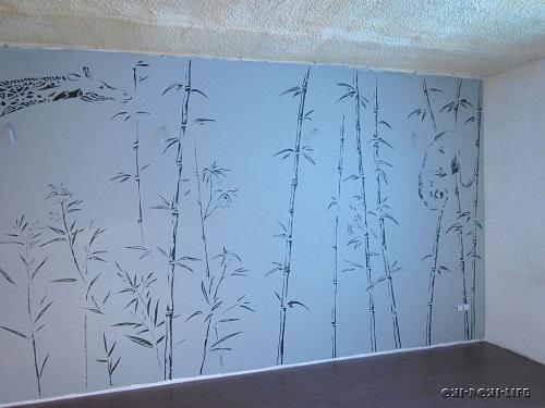 рисунок тростника на обоях