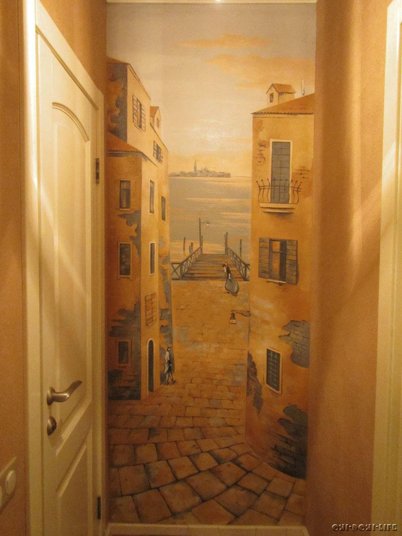 роспись в квартире итальянский пейзаж
