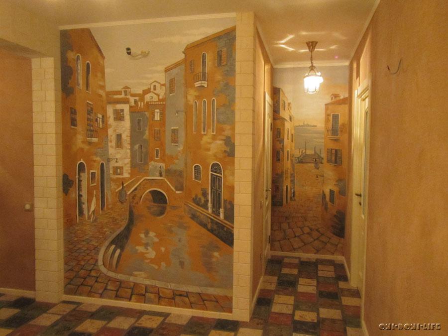 роспись стен в квартире венеция