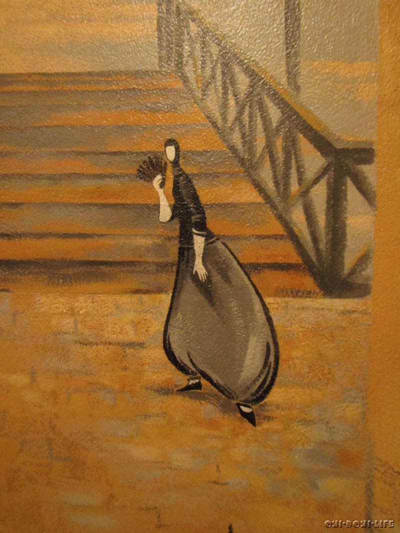 рисунок на стене акрилом