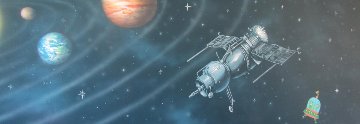 роспись космос,планеты