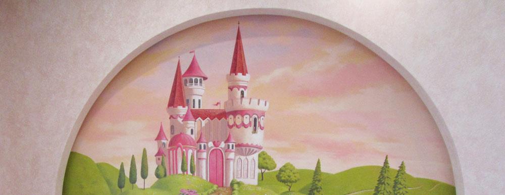 замок в горах,роспись детской
