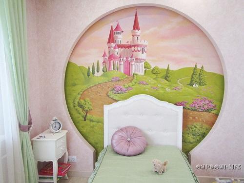 замок в детской комнате акрилом