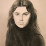 портрет ретушью, карандашом