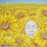 лето подсолнухи солнце цветы