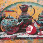 натюрморт старинная посуда