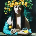 девушка цветы одуванчики венок
