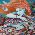 русалка морское дно черепаха зеркало