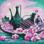 цветы вазы виноград