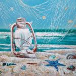 море ракушки стараая лампа летучая мышь сеть