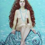 девушка море кудрявые волосы локоны кудри обнажённая