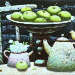 натюрморт яблоки ночь