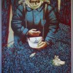 ягоды черника старуха бабушка сбор