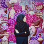 цветы девушка восток хиджаб продавщица