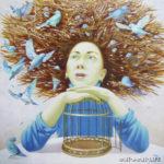мечтатель клетка птицы гнездо