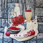 фрукты вино цветы фигурка вакханки