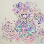 маска карнавал маскарад костюм венеция рисунок