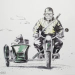 мотоцикл с коляской собака путешествие
