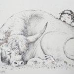 графика рисунок иллюстрация линеры бык