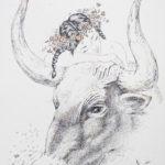 девушка бык рисунок