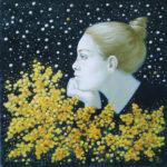 цветы мимоза живопись