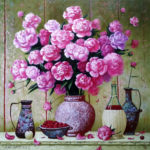 пионы натюрморт цветы